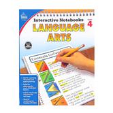 Carson-Dellosa, Interactive Notebooks Language Arts Resource Book, Reproducible Paperback, Grade 4
