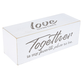 Faithworks, Love Together Message Block, MDF, White & Black, 8 x 3 inches