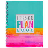 Renewing Minds, Turquoise Rainbow Lesson Plan Book, Spiral, Multi-Colored
