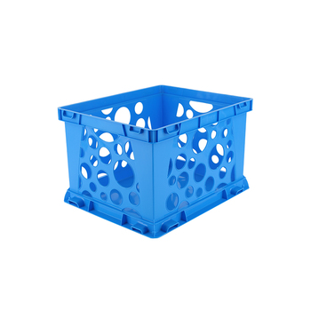 Storex, Premium File Storage Crate, Blue, 17.25 x 14.25 x 10.50 Inches, 1 Piece