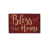 Bless This Home Tabletop or Wall Plaque, MDF, Red & Cream, 6 x 9 1/2 inches