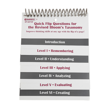 Teacher Created Resources, Quick Flip Questions for the Revised Bloom's Taxonomy, Spiral Chart, 5 x 6 Inches