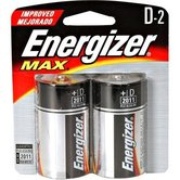 Energizer, MAX D Batteries, 2-Count