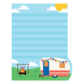 Wander Ridge Collection, Rectangle Notepad, 6.25 x 8 Inches, Camping Theme, 50 Sheets