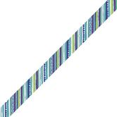 Renewing Minds, Diagonal Stripes Trimmer, 38 Feet, Blues, Greens, Purple Colors