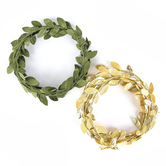 Brother Sister Design Studio, Oh Baby Vine Garlands, Gold and Green, 6 feet, 2 Garlands