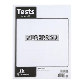 BJU Press, Algebra 2 Tests, 3rd Edition, Paperback, Grades 10-11