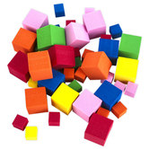 Playside Creations, Foam Cubes, Assorted Colors, Pack of 140