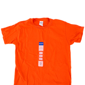 Gildan, Short Sleeve T-Shirt, Orange, Youth Small 6/8, Pre-Shrunk Cotton, 1 Each