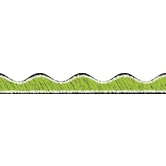 Ashley, Lime Green Scribble Chalk Scalloped Magnetic Border, 1 x 12 inches, Set of 12