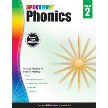 Carson-Dellosa, Spectrum Phonics Workbook Grade 2, Paperback, 160 Pages, Ages 7-8