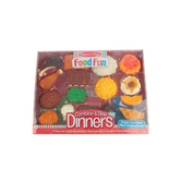 Melissa & Doug, Food Fun Combine and Dine Dinners, Plastic, 17 Pieces, Ages 3 and Older