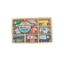 Melissa & Doug, Wooden Town Vehicles Set, 9 Pieces, Ages 3 and Older