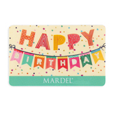 Happy Birthday Pennant Gift Card
