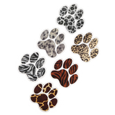 Renewing Minds, Realistic Paw Prints Large Cutouts, 6-Inch Die-Cut, 6 Assorted Designs, 36 Pieces
