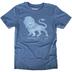 Gardenfire, Roaring Like a Lion, Men's Short Sleeve T-Shirt, Indigo, 2X-Large