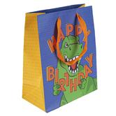 Brother Sister Design Studio, Happy Birthday Dinosaur Medium Gift Bag, 11 1/2 x 9 1/2 x 4 1/2 inches