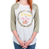 Southern Grace, It Is Well With My Soul, Women's Raglan 3/4 Sleeve T-shirt, Sage Green and White, Small