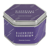 Winfield Home Decor, Blackberry Cardamom Candle Tin, Purple, 3 1/4 x 2 3/4 inches