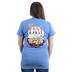 Cherished Girl, Philippians 4:6 Paws and Pray, Women's Short Sleeved T-Shirt, Iris, Small