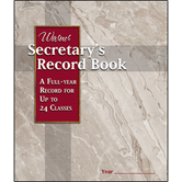 Warner Press, Secretary's Record Book, 9 1/2 x 8 inches, 40 Pages