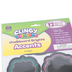 Teacher Created Resources, Clingy Thingies Chalkboard Brights Accents Cutouts, 3 Sizes, 12 Pieces