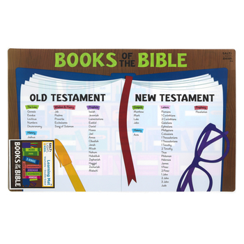 Salt & Light Kids, Books of the Bible Learning Mat, Plastic, 11 1/2 x 17 1/2 Inches, Ages 4 and up