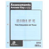 BJU Press, Bible 5 The Fullness of Time Assessments Answer Key, Loose Leaf, 32 Pages, Grade 5