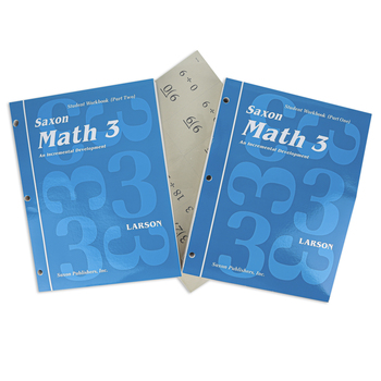 Saxon Math 3 Homeschool Student Work Kit and Fact Cards, 1st Edition, 2 Paperback Books, Grade 3