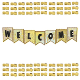 Teacher Created Resources, Travel the Map Pennants Welcome Bulletin Board Set, 54 Pieces