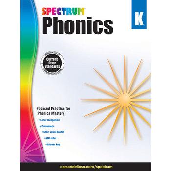 Carson-Dellosa, Spectrum Phonics Workbook Grade K, Paperback, 144 Pages, Ages 5-6