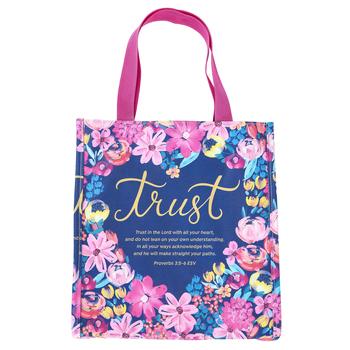 Salt & Light, Proverbs 3:5-6 Trust Bible Tote Bag, Imitation Leather, Large