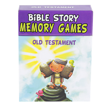 Christian Art Gifts, Bible Story Memory Games Old Testament, Box Set, 2-6 Players, 3.50 x  4.62 x 1 Inch
