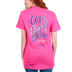 Cherished Girl, Ephesians 2:8 God Blessed This Mess, Women's Short Sleeved T-Shirt, Bright Pink, Small