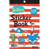Eureka, Dr. Seuss Cat in the Hat Sticker Book, 5.75 x 9.5 Inches, Multi-Colored, Book of 536