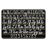 Flagship Carpets, Learning Handwriting Sampler Rug, Letters and Numbers, Black and White, 4 x 6 Feet