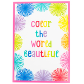 Schoolgirl Style, Color The World Beautiful Motivational Poster, 13.38 x 19 Inches, 1 Piece