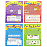 North Star Teacher Resources, Learning To Read Music Bulletin Board Set, Multi-Colored, 4 Pieces