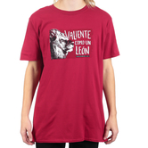 Proverbs 28:1 Brave As A Lion (Spanish), Men's Short Sleeve T-shirt, Cardinal Red, S-2XL