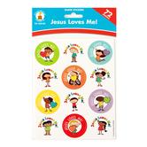 Carson-Dellosa, Jesus Loves Me! Shape Stickers, 1 x 1 Inch, Multi-Colored, Pack of 72