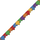 Renewing Minds, Puzzle Die Cut Trimmer, 38 Feet, Solid Color Puzzle Pieces