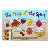 Salt & Light Kids, Galatians 5:22-23 Fruit of the Spirit Learning Mat, Plastic, 11 1/2 x 17 1/2 Inches, Ages 4 and up