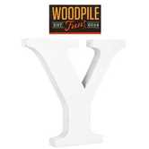 Woodpile Fun, Stand Alone Letter-Y, White, 3 Inches, 1 Piece