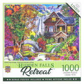 MasterPieces, Flower Cottages-Hidden Falls Cottage Jigsaw Puzzle, 1000 Pieces, 19 1/4 x 26 3/4 inches