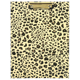Fiddlestix Paperie, Leopard Print Clipboard with Notepad, Tan & Black, 12 1/2 x 9 1/2 inches