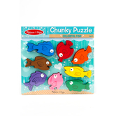 Melissa & Doug, Colorful Fish Chunky Wooden Puzzle, Ages 2 to 4 Years Old, 8 Pieces