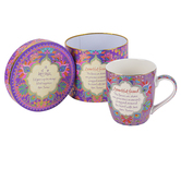 Pavilion Gifts, Beautiful Friend Mug, Purple, Red, Blue, Gold and White, 12 Ounces