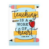 Dicksons, 1 Corinthians 16:14 Teaching Is A Work Of Heart Magnet, 2 3/4 x 3 3/4 inches