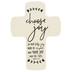 Lighthouse Christian Products, Choose Joy Wall Cross, Ceramic, Cream, 5 1/4 x 7 1/2 inches
