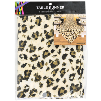 Brother Sister Design Studio, Leopard Print Table Runner, 88 x 18 Inches